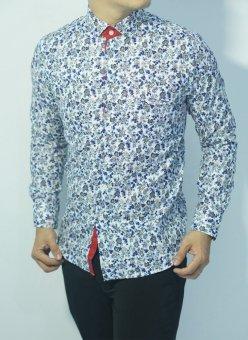 Herman Batik CB254 Baju Kemeja Batik Slimfit Fashion Pria Jeans Muslim Koko