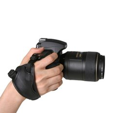 High Quality PU Leather Soft Hand Grip Wrist Strap for Nikon Canon Sony SLR/DSLR Camera Black (Intl)