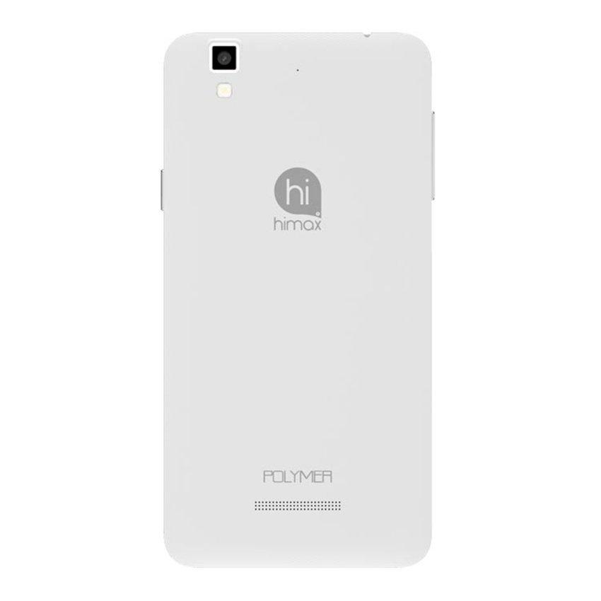 Himax Polymer X Dual SIM - 16GB - Putih + Bonus Micro SD 8GB Class 10 & Screen Guard