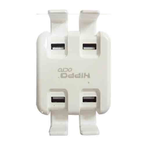Hippo Octo - Usb Adapter witch 4 Ports 2.4 A Max + Kabel  1.5m - Putih