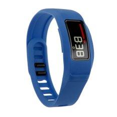 HKS New Replacement Silicone Strap Clasp Wrist Bracelet Band For Garmin Vivofit 2 Blue L - Intl