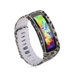 HKS Replacement Wrist Band Bracelet For Samsung Galaxy Gear Fit W / Clasp No Tracker Leopard