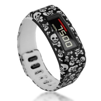 HKS TPU Replacement Wristband Band FOR Garmin Vivofit Bracelet With Clasp L S Size Skull S