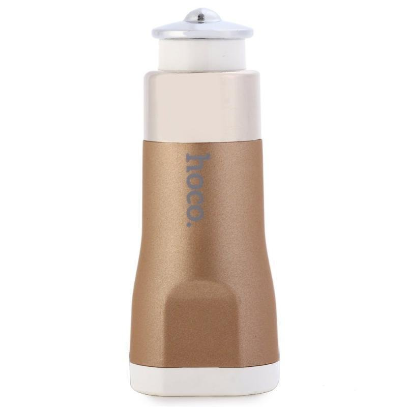 Hoco UC201 Dual USB Port 2.1A + 1.0A Car Charger Adapter for iPhone iPad iPod Samsung (Intl)