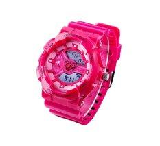 Hogakeji SKMEI Fashion Student Dual Time Wrist Watches (Rose Red)