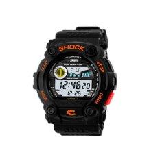 Hogakeji SKMEI Unisex Fashion Multifunction Digital Wrist Watches (Orange)