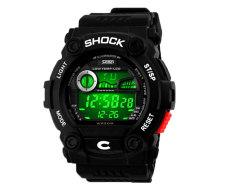 Hogakeji SKMEI Unisex Fashion Multifunction Digital Wrist Watches (White)