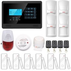 Home Appliance Control Wireless GSM SMS DIY Personal Anti-theft Security System Smoke Detector (Intl)