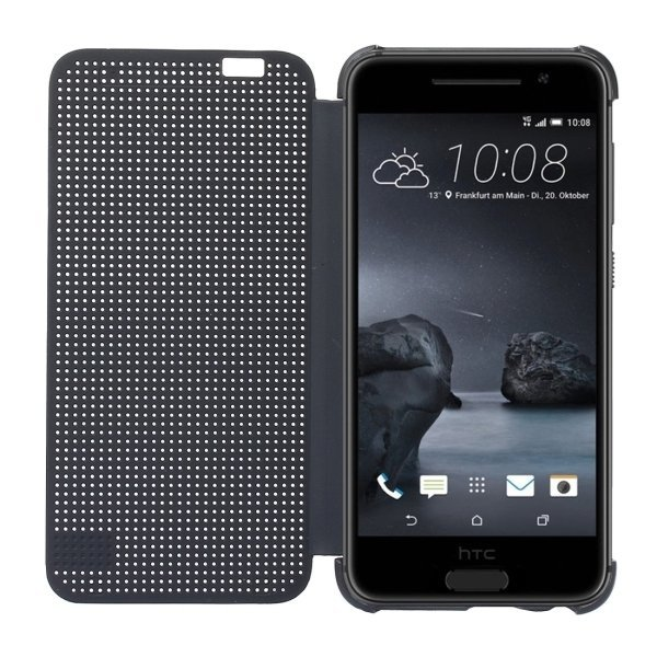 Horizontal Flip Silicon + PC Hard Case with Sleep / Wake-up Function for HTC One A9 (Grey) (Intl)