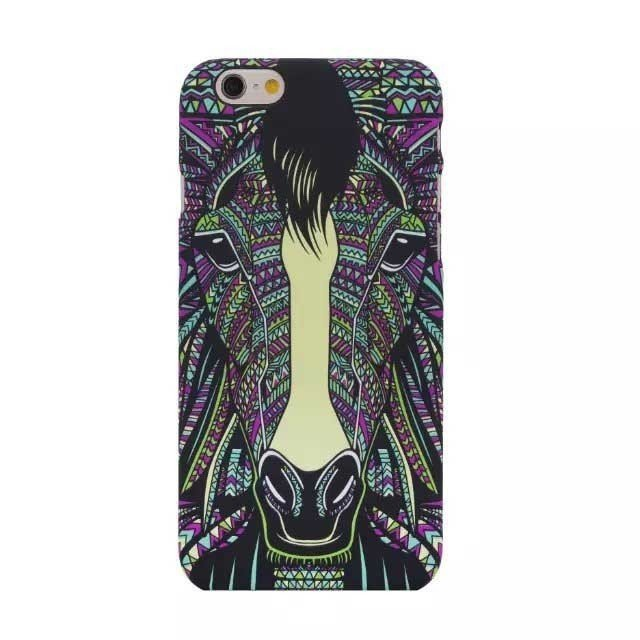 Horse Faces Painting Case for iPhone 5/5S (Multicolor)