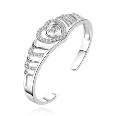 Hot Sales Of Simple Silver Bracelet Fashion Silver Plated Bracelet