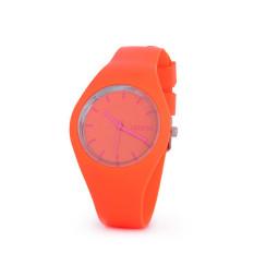 Hot Selling Jelly Silicone Geneva Watch Relogio Feminino Fashion Women Wristwatch Casual Luxury Watches (Orange)