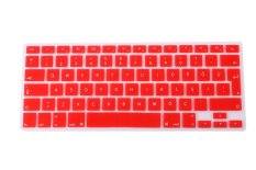 HRH Turkish Silicone EU Keyboard Cover Skin For Apple Macbook Pro Retina 1.15 17 MAC Air 13 (Red)