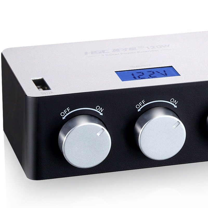 HSC YC-434 USB White Independent Switch Silver
