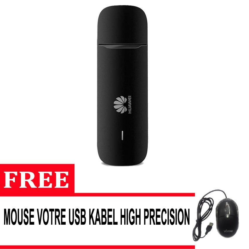 Huawei E3531 Modem With Speed 21 Mbps Support All Gsm + Free Mouse Votre High Precision - Hitam
