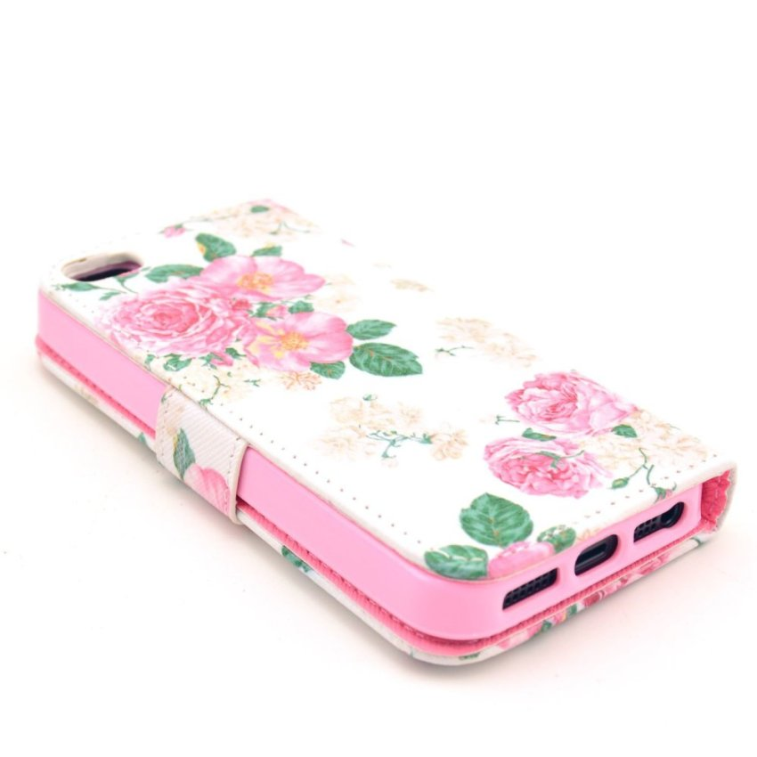 HXGRAND High Quality PU Leather Flip Stand Wallet Card Slot Bracket Back Case Cover for iPhone 5 5S