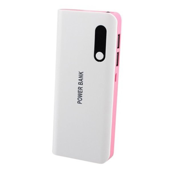 HyperJuice 20000mAh LED 2 USB Portable External Battery Charger Power Bank Pink