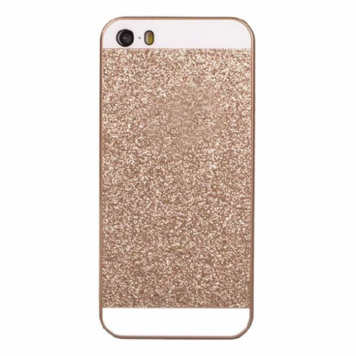 I3C Luxury Bling Glitter Hard Plastic Case Cover for iPhone 4/4S (Gold)