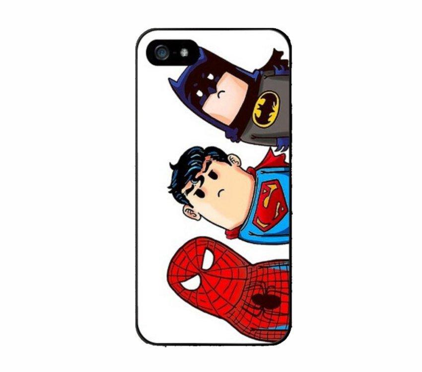 iBuy iPhone SE / 5S / 5 3 in One Superhero Cute - White - Case casing