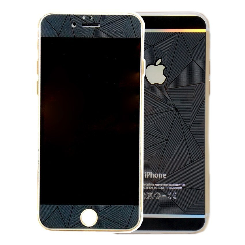 iGear Tempered Glass Protector Diamond Motif For iPhone 6 Plus /6S Plus - Hitam