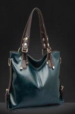 ILife 2015 New Women Messenger Bags Fashion Genuine Leather Handbag Portable Shoulder Bag Crossbody Bolsas Women Leather Handbag Tote Green - Intl