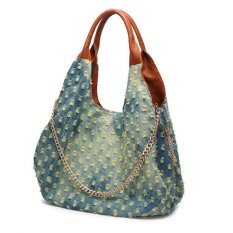 Ilife European And American Fashion Casual Washed Denim Women's Handbag Large Capacity Women Shoulder Bag Vintage Handbag For Women- Intl