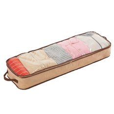 ILife Store Big Size 100*32*14cm Foldable Bamboo Fibre Home Storage Bag Organizer Box View Window Clothes Container Bag On Sale - Intl