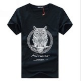 Ilife Store New Arrival Men Fashion 2015 Summer Style High Quality Men's Tshirt Cotton Cartoon OWL Animal Printed T Shirt Men Brand Tee 5XL