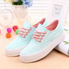ILife Women Shoes Casual Women Canvas Shoes Zapatos Mujer Casual Shoes Fashion Casual Shoes Women Ladies Blue