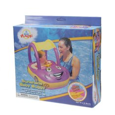 Inflatable Baby Float Seat Boat Adjustable Car Sunshade Swim Pool Swimming Ring (Intl)