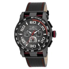 Invicta Men's Black Leather Strap Watch 15905 S1