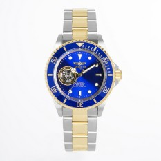 Invicta Pro Diver Men 40mm Case Steel, Gold Stainless Steel Strap Blue Dial Automatic Watch 21719