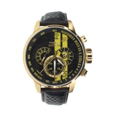 INVICTA S1 Rally IN-19905 Men's Leather Black, Yellow Dial Watch