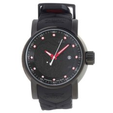 Invicta S1 Rally Men 48mm Case Black, Red Silicone Strap Black Dial Automatic Watch 18213