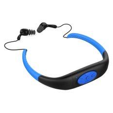 IPX8 Head Wearing Type Waterproof 8GB Water Resistant High Stereo MP3 Player (Blue + Black)