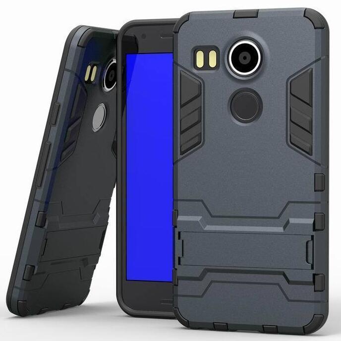 Iron Man Hard Armor Case With Stand Holder LG Nexus 5X Angler H79 Google Nexus 8 Back Cover for LG Google Nexus 5x 5.2'' inch (Black) (Intl)