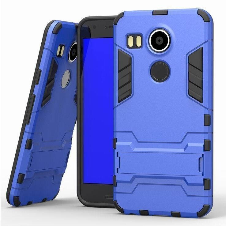 Iron Man Hard Armor Case With Stand Holder LG Nexus 5X Angler H79 Google Nexus 8 Back Cover for LG Google Nexus 5x 5.2'' inch (Blue) (Intl)