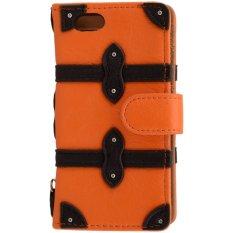 iStuff Original Samdi Book Leather Case - iPhone SE / 5S / 5 - Oranye