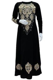 J w v concept gamis arabia elif hitam lazada indonesia Baju gamis elif