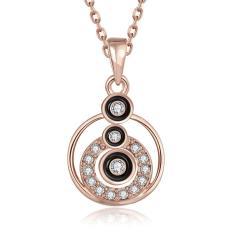 JER FASHION Europe Czech Elegant Diamond Necklace Ms. Round - Intl