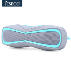 Jesbod J17 Sports Bluetooth Speaker IPX7 Waterproof Design Portable Wireless Loudspeaker Sound System 3D Stereo Music Surround (Light Blue)