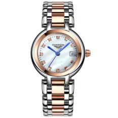 Jiage Luxury Fashion Leisure Women's Fine Steel Watch Waterproof Roman Surface Rose Gold Crown Qin GUANQIN Ladies Watch Fine Steel Series Ms. Diamond Quartz Watch