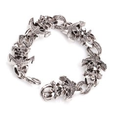 Jiayiqi Fashion Pirate Skeleton Titanium Bangle Charm Bracelet For Men- Intl - Intl