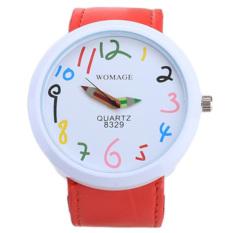 Jo.In Hot Fashion Women's Round Shape Waterproof Candy Color Wrist Watch (Red) - Intl
