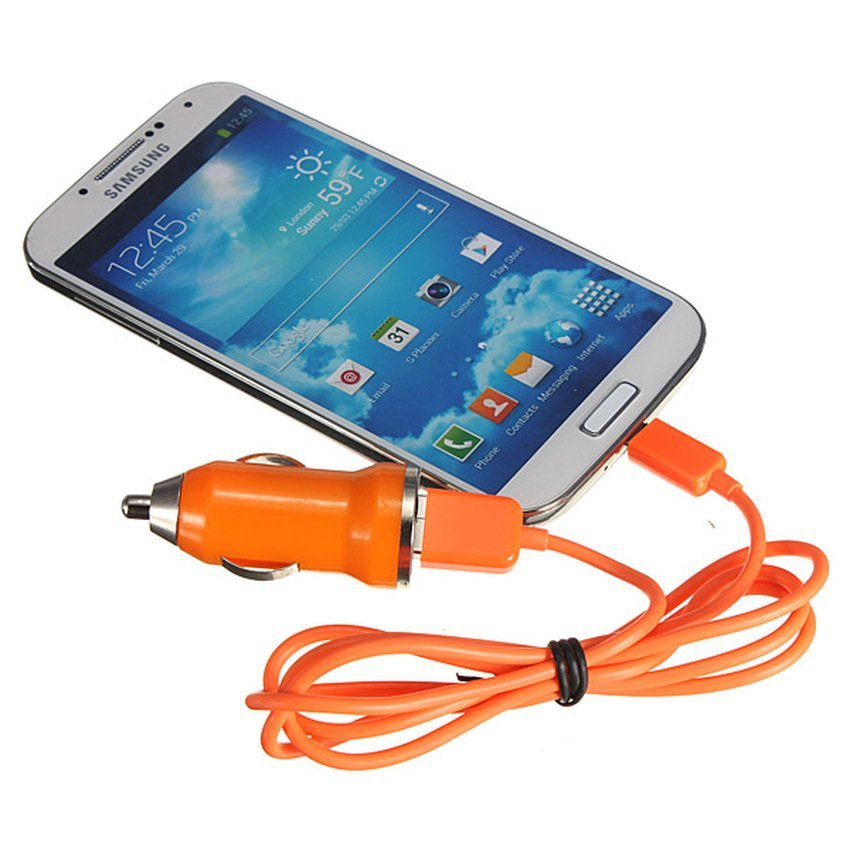 JOR Car Charger With Micro USB Cable for Android (Intl)