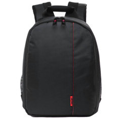 JoyliveCY Pattern SLR Camera Bag Backpack Video Photo Bags Small Compact Camera Backpack (Black& Red) - Intl