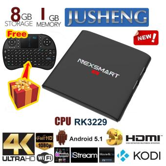 JUSHENG [Free Wireless Mini Keyboard] D32 Android 5.1 TV Box 1G / 8G RK3229 Quad Core CPU XBMC Kodi 16.0 Fully Loaded TV Box 4K Dual Band Streaming Media Player