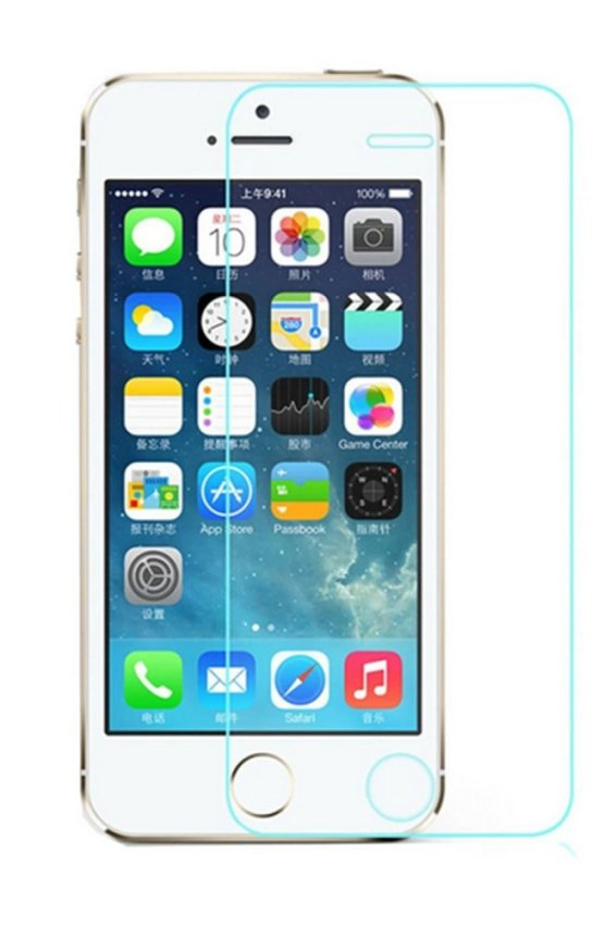 JustCreat 5 Pcs Toughened Glass Membrane Mobile Phone Screen Guard for Iphone5 (Intl)