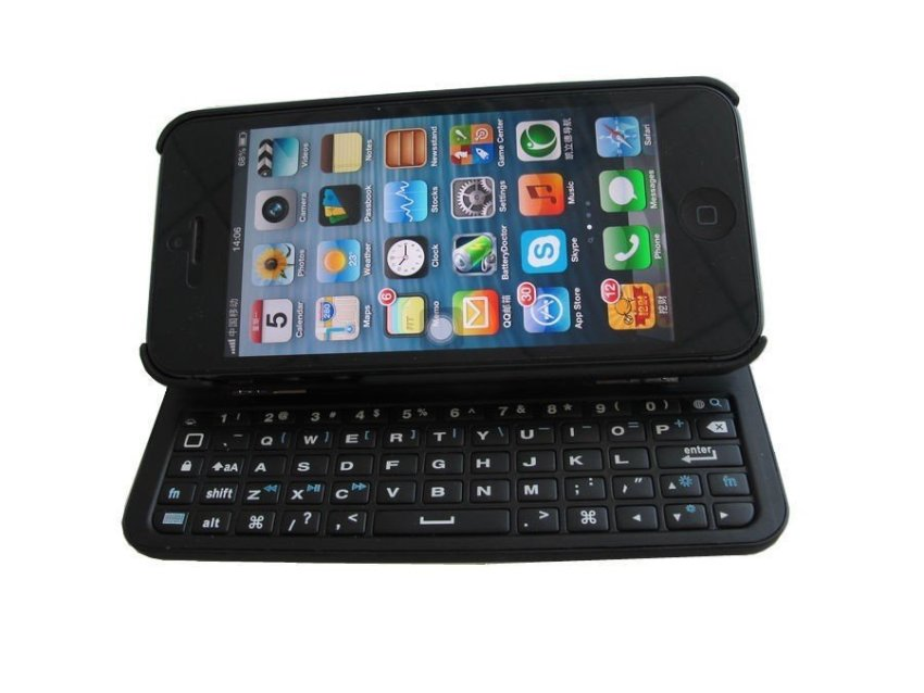 K-1281 Ultra Thin Bluetooth Wirless Keyboard Case for iPhone5/5s Black