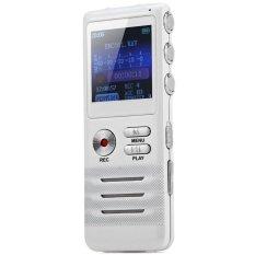 K6 Multifunctional 8GB Real Time Display Digital Audio Voice Recorder (White) (INTL)